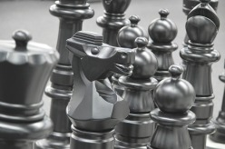 Chess pieces, grey