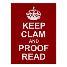 Keep clam and proof read image