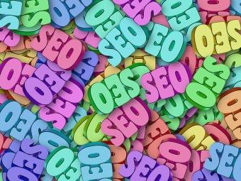 SEO multi-coloured image