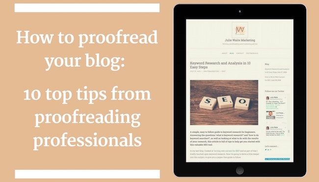 How to proofread your blog graphic