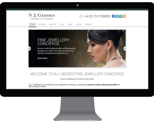 BEFORE - Neil Geddes old website screenshot
