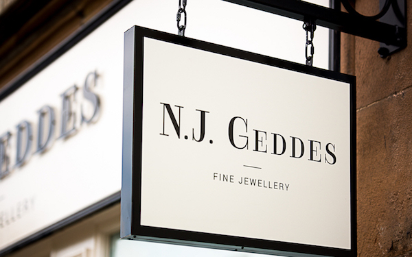 Neil Geddes boutique sign