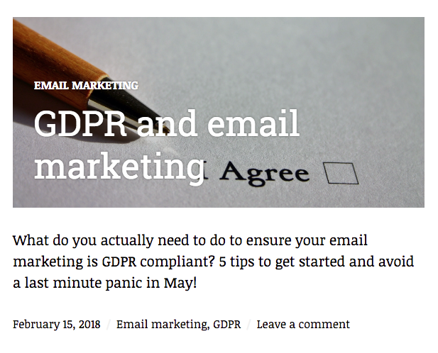 GDPR blog example