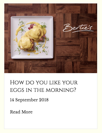 Eggs screenshot, Bertie's blog