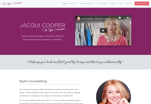 Jacqui Cooper website homepage