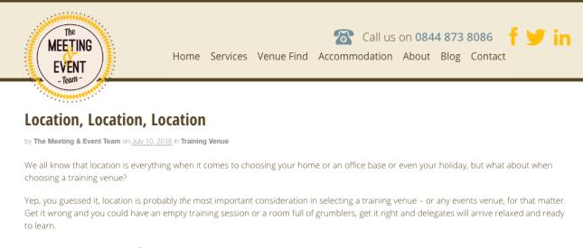 location blog screenshot