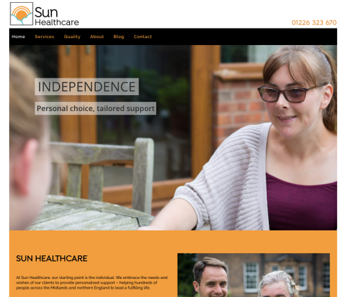 Sun Healthcare website homepage
